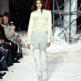 Kaia continued to walk in Raf's shows, pictured above on the runway for Fall 2018.