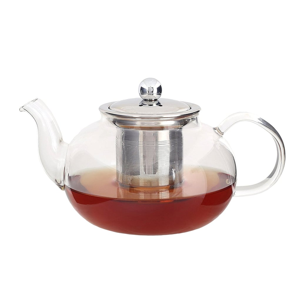 Glass Teapot Kettle with Infuser - Removable Stainless Steel Strainer