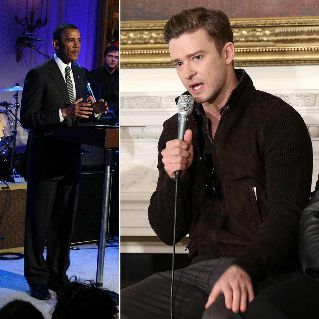 Justin Timberlake at the White House   Pictures