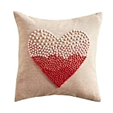 Embroidered Ombre Heart Pillow