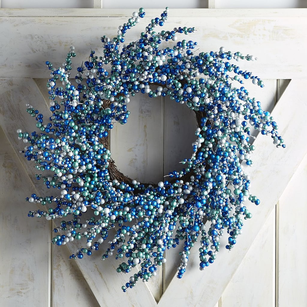 Metallic Blue and Silver Berry Wreath ($36, originally $45)