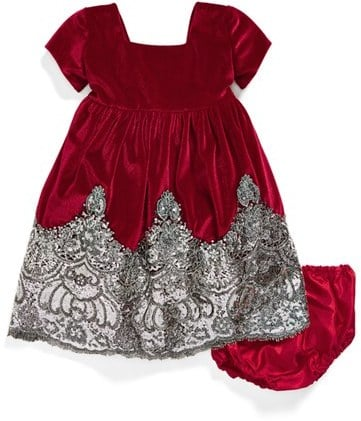 Isabel Garreton Sequin Velvet Dress