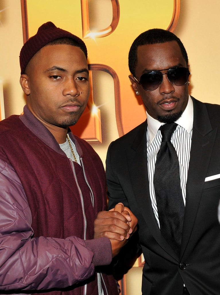 Diddy shook hands with his pal Nas.