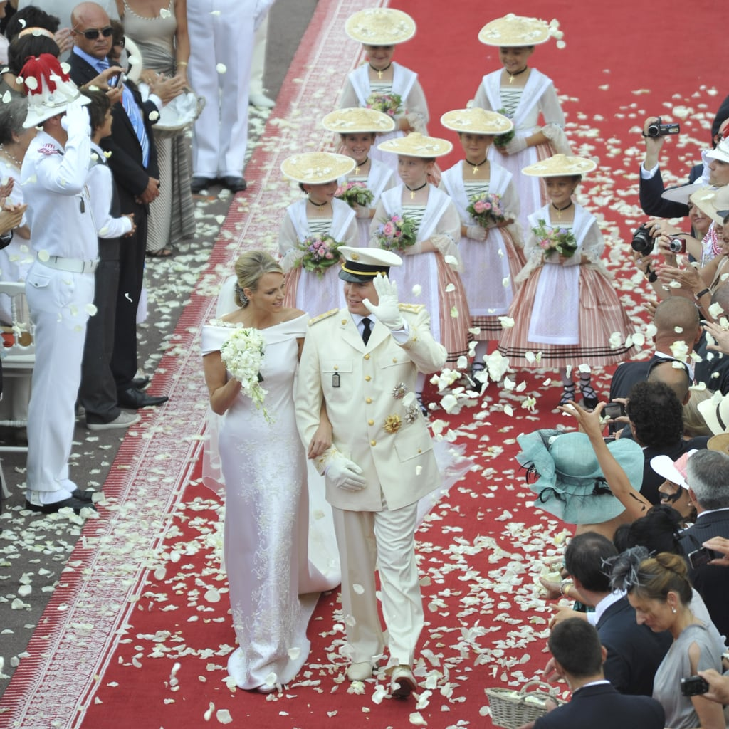 Prince Albert II and Charlene Wittstock   The Bride: Charlene Wittstock, a South African swimmer who allegedly tried to flee before the wedding. The Groom: Prince Albert II, the sovereign of Monaco and son of Grace Kelly. He has two illegitimate children from previous relationships. When: July 1, 2011, for the civil ceremony, followed by a religious ceremony on July 2, 2011. Where: Monte Carlo, Monaco.