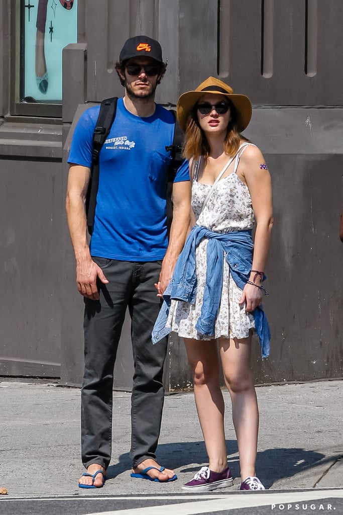 Shortly before confirming their engagement, the pair enjoyed a casual stroll in NYC in September 2013.