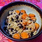 Get in some fiber and folate with a big bowl of carrot quinoa with black beans that will fill you up in a superhealthy way.