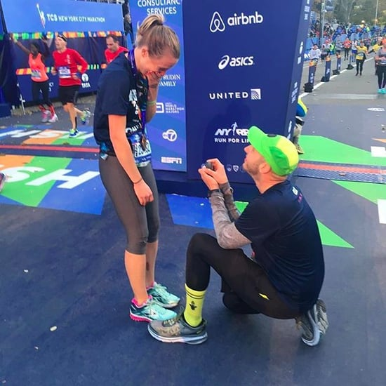 Proposal at 2016 NYC Marathon Finish Line