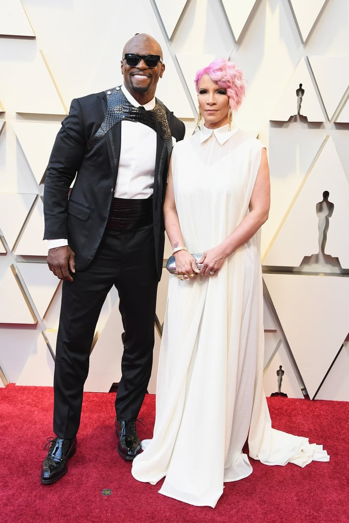 Terry Crews and Rebecca King-Crews at the 2019 Oscars