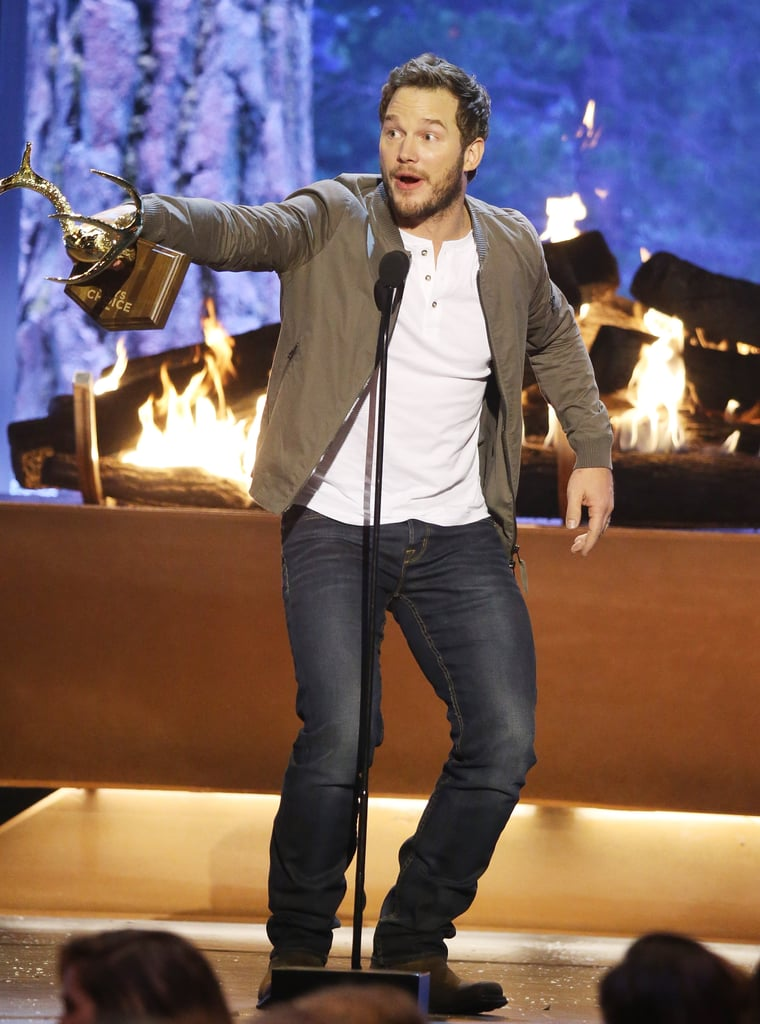 Chris Pratt Is Named Guy of the Year — and Totally Lives Up to the Title