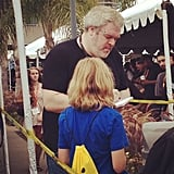 Game of Thrones star Kristian Nairn, who plays Hodor on the show, signed autographs for fans who were patiently waiting in line for the panel.