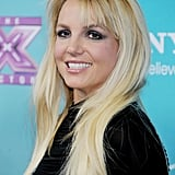 Britney Spears stepped out in LA to celebrate The X Factor finalists.