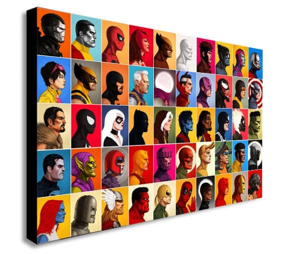 Marvel Comics Super Hero Collage