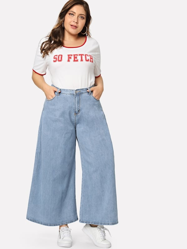 0bad6b66d0 Our Pick: Shein Wide Leg Jeans | Flattering Fashion Trends 2019 ...