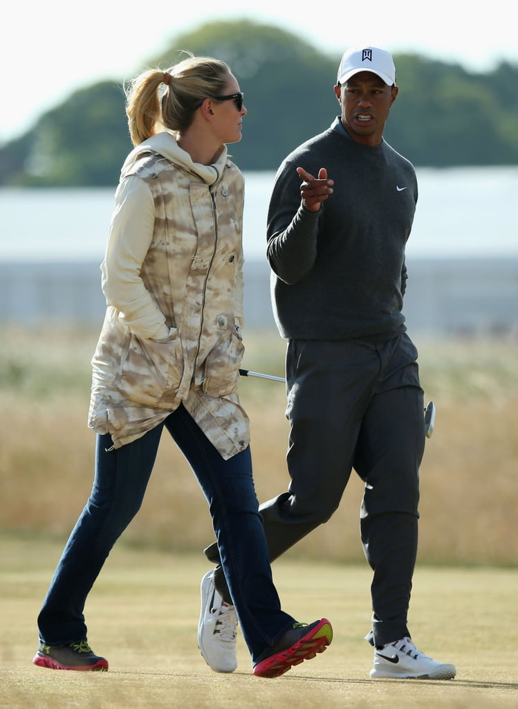 Lindsey Vonn and Tiger Woods had some time together on Monday ahead of the 142nd British Open Championship.