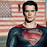 "Henry Cavill as Superman They may not even say the name ""Superman"" in the most recent Man of Steel trailer, but Henry Cavill, the latest man to wear the blue-and-red suit, has all the classic Superman attributes. Dark hair, chiseled jawline, and an amazing physique — Cavill is unmistakably fitting for the iconic superhero. He may be the newbie, but we are more than ready to welcome him into the fold of Hollywood's hottest actors."