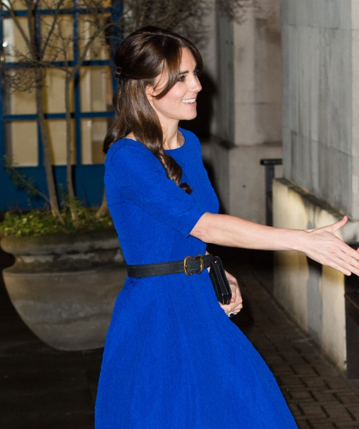 Kate Middleton Blue Dress Style Popsugar Fashion Photo 2
