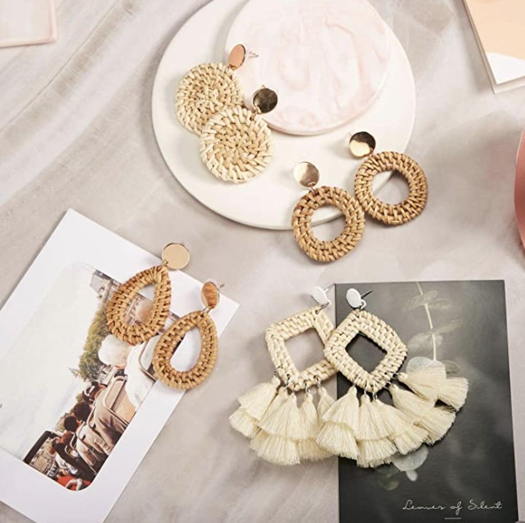 Meekoo Rattan Earrings
