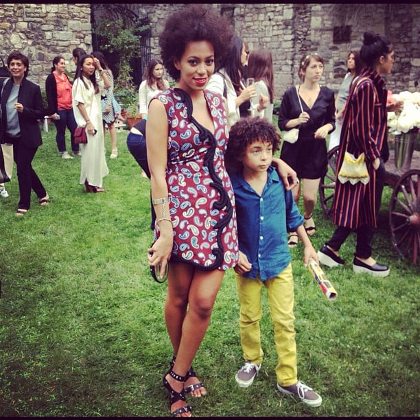 Solange Knowles and her son, Julez, stepped out stylishly together for Stella McCartney's presentation. Source: Instagram user netaporter