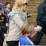 Kate and Ryder held hands following the game.