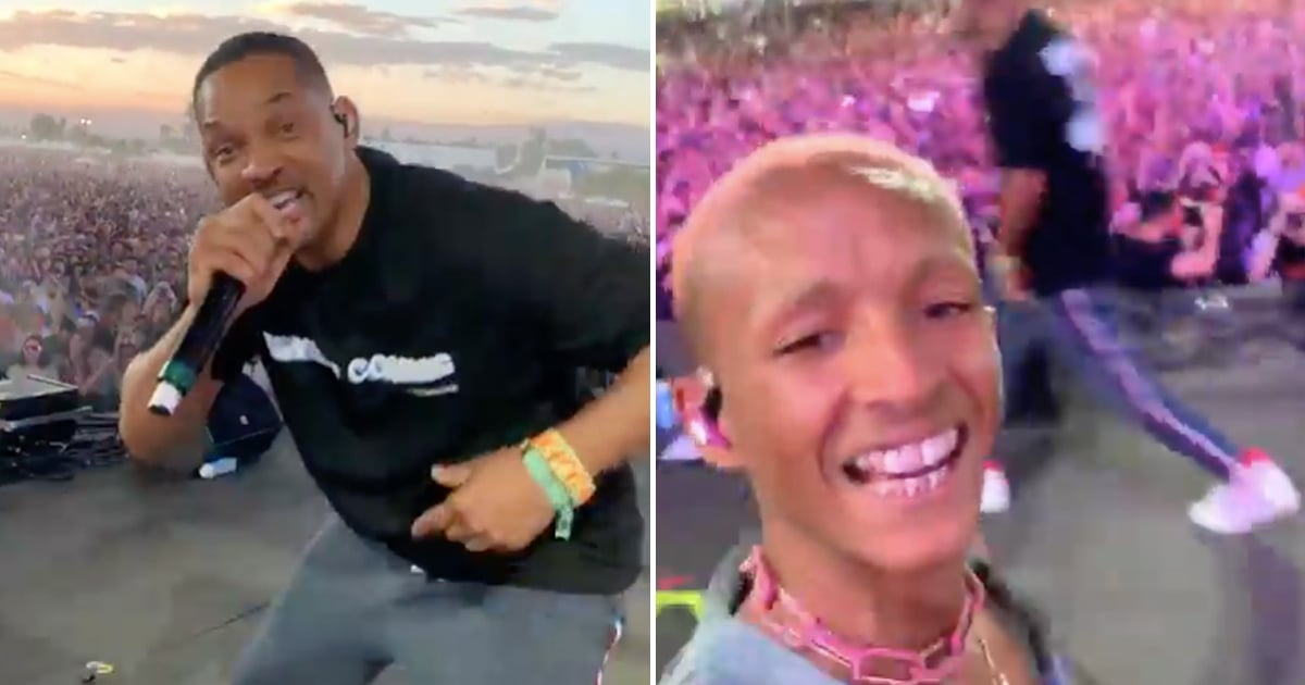43acbc38026c Will Smith Performs With Jaden Smith at Coachella 2019 | POPSUGAR  Entertainment