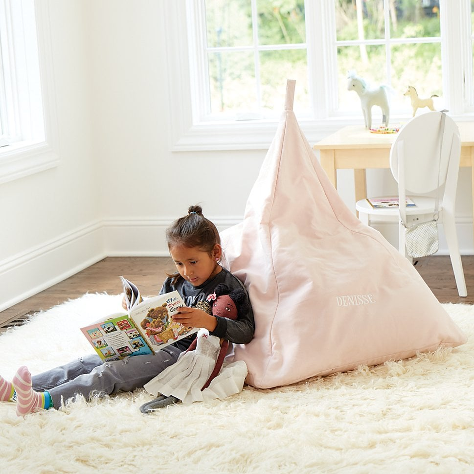 Triangle Personalized Pink Bean Bag Chair