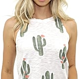 Brokedown Cactus High Neck Tank in Cream as seen on The Salty Blonde ($66)