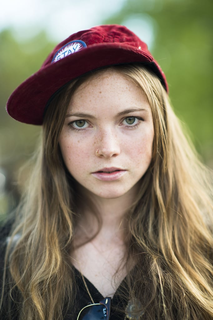 A cool cap makes this girl's tousled waves even more stellar. Source: Le 21ème | Adam Katz Sinding