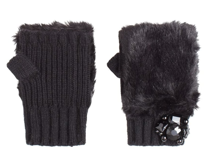 "These Juicy Couture Luxe Faux Fur Fingerless Gloves ($48) say ""I'm luxurious"" without spending like it."