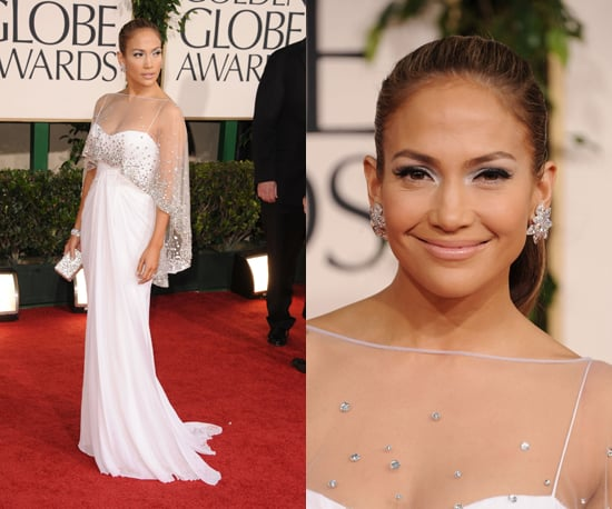 Jennifer Lopez's blingtastic but angelic look from the 2011 Golden Globe Awards