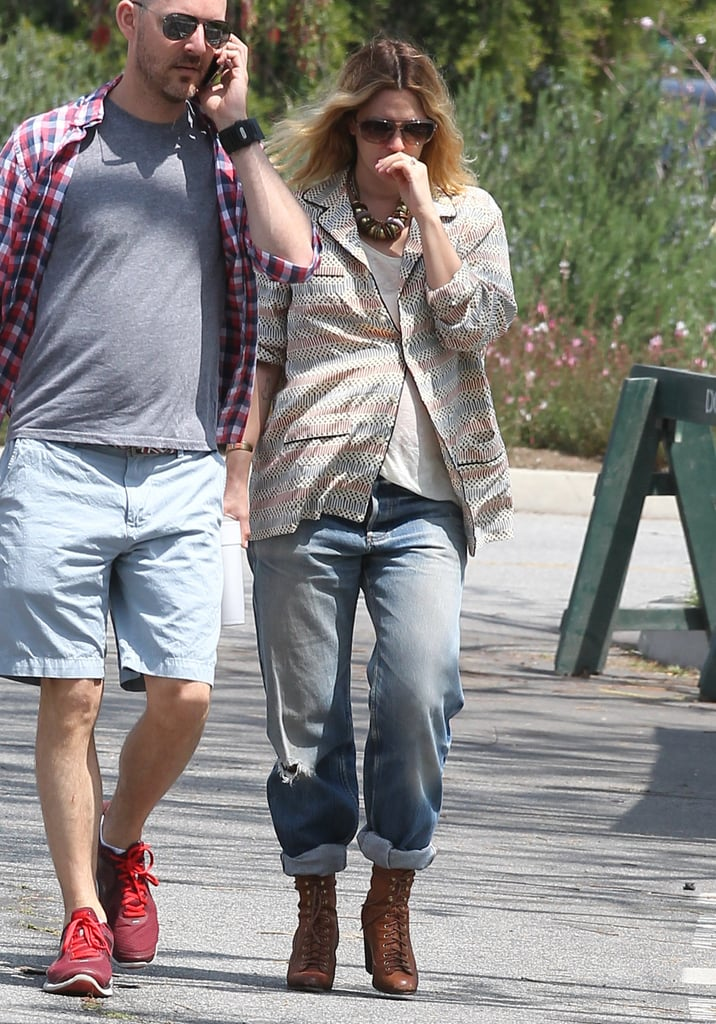 Drew Barrymore enjoyed a sunny LA day.