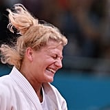Kayla Harrison cried tears of joy after winning gold in judo.