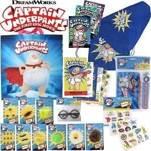 Captain Underpants Showbag ($26) Includes:  Toilet putty  Nerd glasses  Adventures of Captain Underpants book