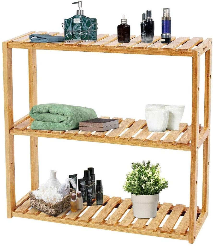 Adjustable Bamboo Shelf Rack