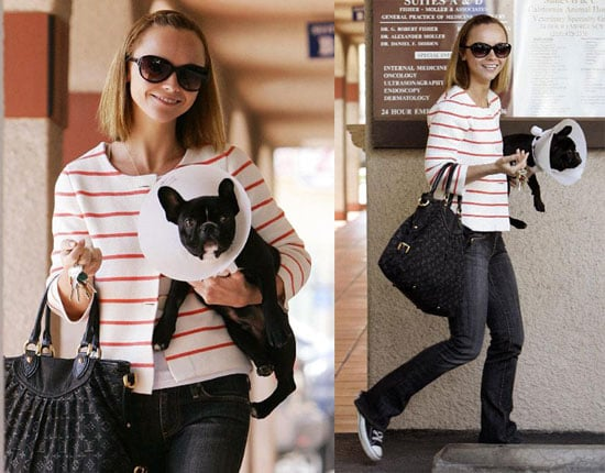 Christina Ricci And Her French Bulldog Ramon