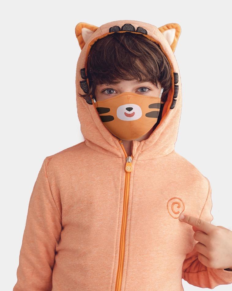 Cubcoats Tomo the Tiger Zip-Up Hoodie