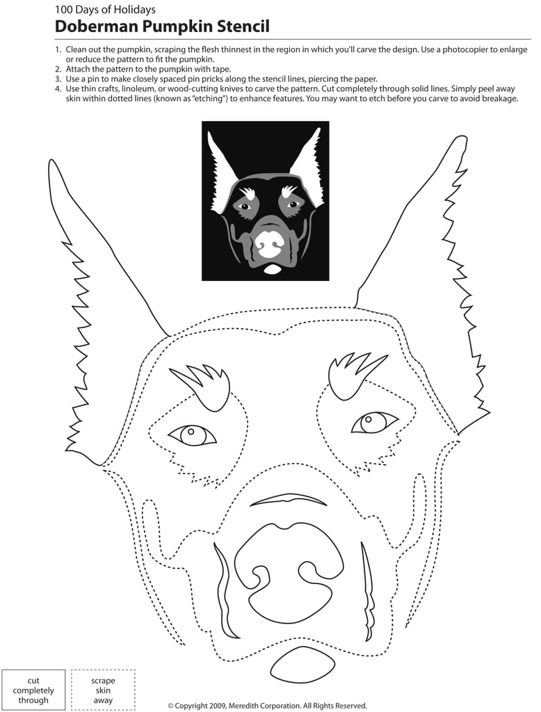 Downloadable Dog Breed Pumpkin Stencils | POPSUGAR Pets