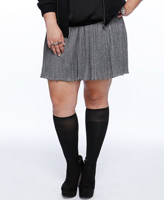 Metallic Accordion Pleat Skirt ($20)