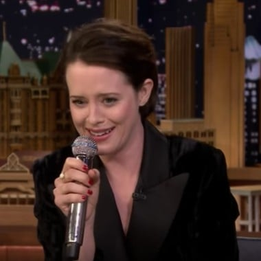 "Claire Foy Rapping ""Rapper's Delight"" on Jimmy Fallon Video"