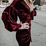 Imily Bela Velvet Puff Sleeve Dress