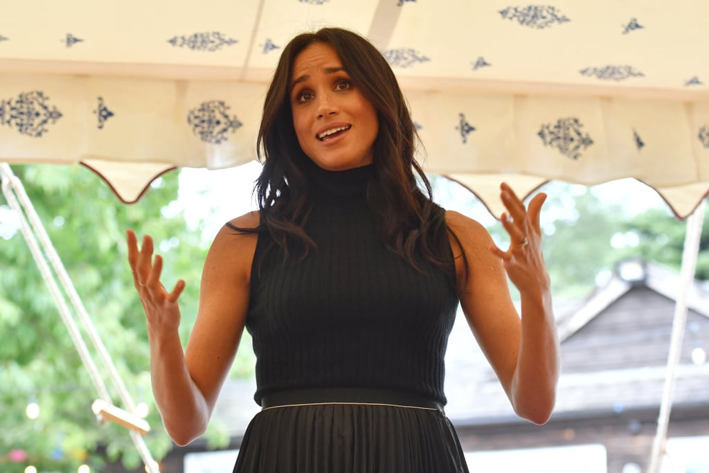 "Meghan Markle is transitioning into her role as a royal quite nicely, and it seems like Prince Harry couldn't be prouder. While celebrating the launch of Together: Our Community Cookbook, a charity book that contains recipes from members of the community in West London that came together following the devastating Grenfell Tower fire, the 37-year-old gave her first speech as a royal as she addressed the guests at Kensington Palace on Thursday.  ""Working on this project for the past nine months has been a tremendous labor of love,"" Meghan told the group. ""I just recently moved to London, and I felt so immediately embraced by this kitchen — your warmth and kindness and also to be able to be in this city and to see in this one small room, how multicultural it was."" As Meghan thanked the women of the Hubb Community Kitchen, her husband, Prince Harry, and mother, Doria Ragland, were spotted looking incredibly proud as they stood off to the side. Aww! See even more of Meghan's eloquent speech ahead.       Related:                                                                                                           From Royal Fiancée to Royal Favorite: Meghan Markle's Whirlwind 2018, in Pictures"