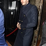 David Beckham had a night out at London's Chakana Club.
