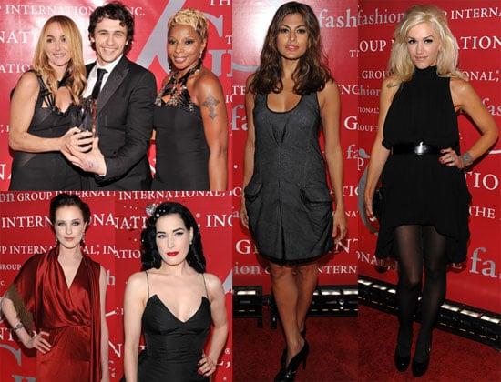 Photos of Gwen Stefani, Dita von Teese, Emmy Rossum, Eva Mendes, Evan Rachel Wood, James Franco at Fashion Group Internatinal 2009-10-23 07:45:00