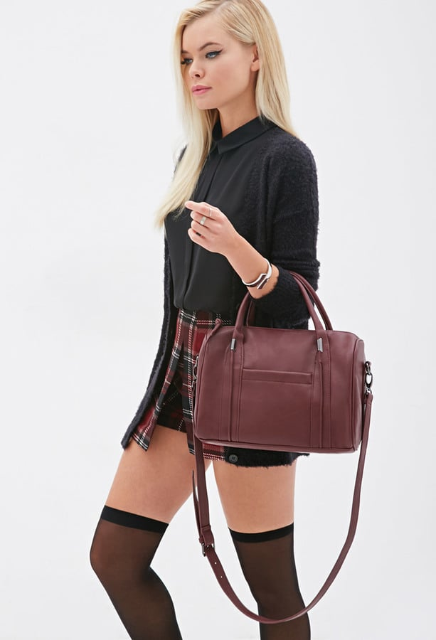Forever 21 Round Faux Leather Satchel ($28)
