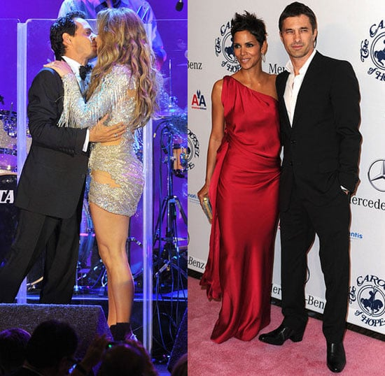 Couples At The Hope Gala: Jennifer Lopez and Marc Anthony, Halle Berry and Olivier Martinez