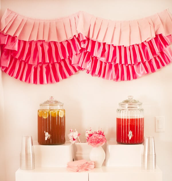 Sugar Free Punch For Baby Shower: Pink Ruffle Baby Shower