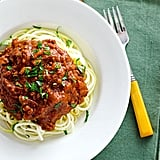 Crockpot Turkey Bolognese With Zucchini Noodles