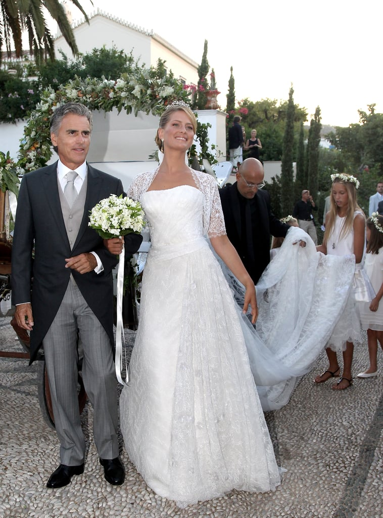 Prince Nikolaos and Tatiana Blatnik The Bride: Tatiana Blatnik, a former event planner for Diane von Furstenberg. The Groom: Prince Nikolaos of Greece and Denmark, son of King Constantine II of Greece and Anne-Marie of Denmark. When: Aug. 25, 2010. Where: In true princess style, Tatiana arrived by horse-drawn carriage to their wedding at the Cathedral of Ayios Nikolaos in Spetses, Greece.