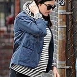 Pregnant Jennifer Connelly Goes Casual on the School Run With Her Cute Kids