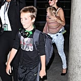 Kate Hudson and Matthew Bellamy With Their Boys at LAX
