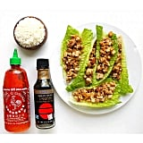 If going carb-free isn't your thing, use rice or beans as a filling in your lettuce cups. By turning your stir-fry dish into a wrap, you'll end up using less rice than if you plated it, which will cut down on calories and carbs. This vegan tofu stir-fry is a simple mix of soy sauce, peanut sauce, and sriracha.